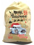 X-Large Cotton Drawcord Koolart Christmas Santa Sack Stocking Gift Bag & New Mk7 Fiesta ST Image